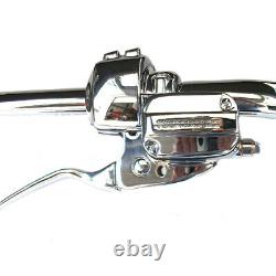 1 1/4 Chrome 11 Santee Fat Bonanza Bar Ape Hangers CKit 1996-2005 Harley Dyna