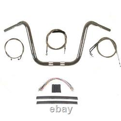 1 1/4 Chrome 14 Ape Hanger Kit 2012-2017 Harley-Davidson Dyna Fat Bob withABS