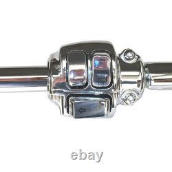 1 1/4 Chrome 14 Santee Fat Bonanza Bar Ape Hangers CKit 1996-2005 Harley Dyna
