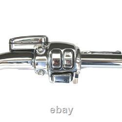 1 1/4 Chrome 18 Ape Hanger Handlebar CKit 2008-2011 Harley Dyna Fat Bob