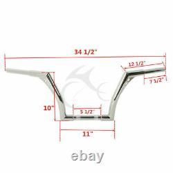 1 1/4'' Fat 10 Ape Hanger Handlebar Fit For Harley Davidson Dyna Switchback FLD