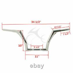 1 1/4'' Fat 10 Ape Hanger Handlebar Fit For Harley Sportster 883 1200 FLST FXST