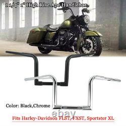 1-1/4 Fat 10 Rise Ape Hanger Bar Handlebar For Harley FLST FXST Sportster XL