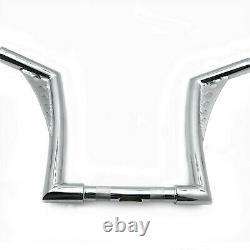 1-1/4 Fat 10 Rise Ape Hanger Handle bar Handlebar For Harley Sportster Chrome