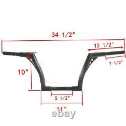1-1/4 Fat 10Rise Ape Hangers Handlebar For Harley Softail Sportster XL 1200