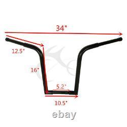 1-1/4 Fat 16 Rise Handlebar Ape Hanger Fit For Harley FXST Sportster Drag Bar