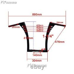 1 1/4 Fat Handlebar 16 Rise Ape Hanger Z Bar For Harley Sportster Softail FLST
