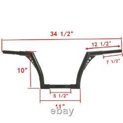 1.25 Fat 10 Rise Ape Hangers Handlebar For Harley Softail Sportster XL Custom