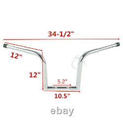 10/12/14/16 1.25 Ape Hanger Fat Handlebar Bars For Harley Softail Sportster