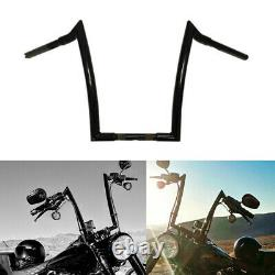 10 12 14 16 Black Fat Monster Ape Hangers Handlebars For Harley Dyna Softail