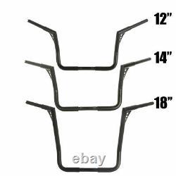 12 14 18 Rise Ape Hanger HandleBars 1-1/4 Fat For Harley Touring Baggers 82-UP