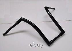 12 Ape Hangers Black Dna 1-1/2 Fat Monster Handlebars Harley Softail Sportster