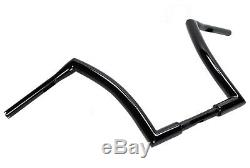 12 Black Fat Monster Ape Hangers Apes Handlebars Harley Softail Dyna Sportster