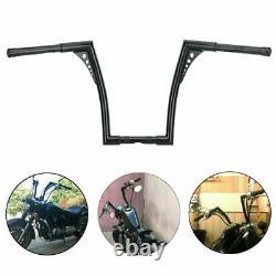 12 Rise 1-1/4 Handlebars Fat Ape Hangers Handle bar For Harley Softail XL FXST