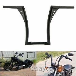 12 Rise 1.25 Fat Ape Hangers Handlebars For Harley Sportster FXST FLST Custom