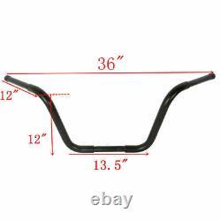 12 Rise APE Hangers Bars Fat 1-1/4 Handlebar For Harley FLST FXST Sportster XL