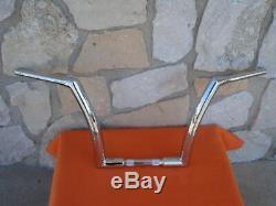 14 Chrome Dna Monster Fat Ape Hanger Bars 1-1/2 Harley Handlebars 1982 & Up