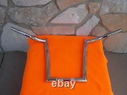 14 Chrome Monkey Fat Ape Hanger Bars 1-1/2 Harley Handlebars 1982 & Up