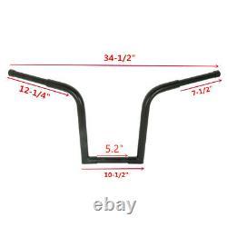 14 Rise Bar Handlebar Ape Hanger Fat For Harley Sportster XL Custom FLST FXST