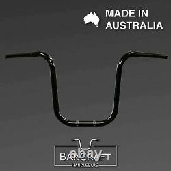 16 APE HANGERS 1-1/4 BLACK Harley Breakout Softail Fat Bob Bars Handlebars
