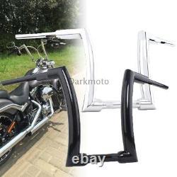 16 Ape Hanger Bar Fat Bars 2 Handlebar For Harley Touring Road Glide Sportster