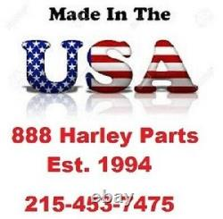 16 Chrome FAT Ape Hangers with LED's Pauchco & Burly Stainless Cable Kit Harley