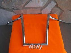 16 Chrome Monkey Fat Ape Hanger Bars 1-1/2 Harley Handlebars 1982 & Up