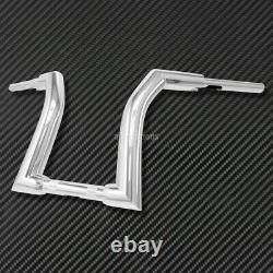 16 Chrome Rise Ape Hanger Handlebar Fit For Harley Fat Boy Softail CVO 2000-20