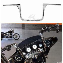16 Rise Ape Hanger 1-1/4 Fat Handlebar Fit For Harley Touring Dressers Baggers