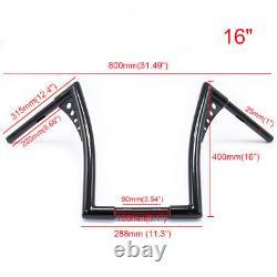 16 Rise Ape Hanger Handlebar Custom 1 1/4'' Drag Fat Bar Hand Bar For Harley XL