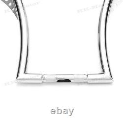 16inch Handlebar Riser Motorcycle Ape Hangers Bars Fat 1-1/4inch For Harley KM