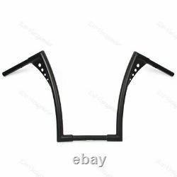 16inch Rise 1-1/4 Handlebar Black Motor APE Hanger Bar Fat For Harley TP
