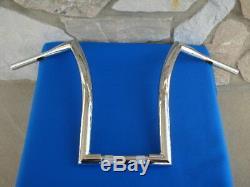18 Chrome Dna Monster Fat Ape Hanger Bars 1-1/2 Harley Handlebars