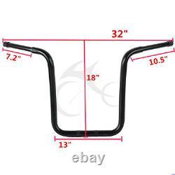 18 Rise 1-1/4 Ape Hanger Bar Fat Handlebar Drag For Harley Sportster XL Custom