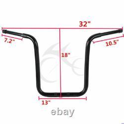 18 Rise Ape Hanger Bar Fat 1-1/4 Handlebar Fit For Harley Sportster XL883 1200
