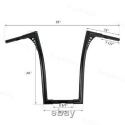 1X Custom 1'' Fat 20 Rise Ape Hangers Handlebar For Harley Softail Sportster XL