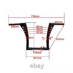1x Motorcycle APE Hangers Bars Fat 1-1/4 12 Rise Handlebar For Harley XL 883