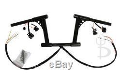 8 Rise Black Fat Rsd Drag Bar Ape Hangers Handlebars With Black Switches Harley