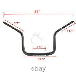 APE Hanger Fat 1 1/4 14 Rise Handlebar Fit For Harley FXST Sportster XL Black