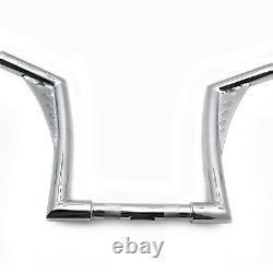 Ape Hangers Bars Fat 1-1/4 10 Rise Handlebars For Harley Softail Sportster XL