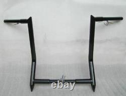 Bagger Ape Hanger Handlebar 14 Black 4 Harley Softail Deluxe Heritage Fat Boy