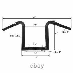 Black 1.25 Fat 12 Rise Ape Hangers Bar Handlebar For Harley Sportster XL 1200
