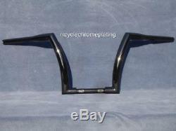 Black 12 DNA MONSTER APE HANGER FAT BARS 1-1/2 HARLEY HANDLEBAR Sportster