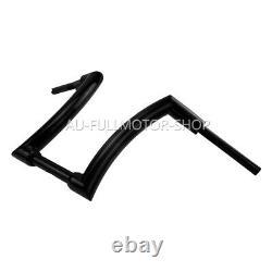 Black 12 Rise Ape Hanger Handlebar Fit For Harley Heritage Softail FXST Fat Boy