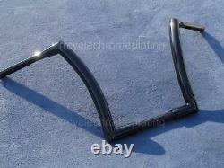 Black 14 Inch DNA MONSTER APE HANGER BARS WIDE FAT BARS 1-1/2 HARLEY HANDLEBARS