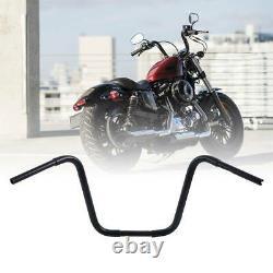 Black 16 Rise 1-1/4 Fat Ape Hangers Handlebars For Harley FLST FXST Sportster
