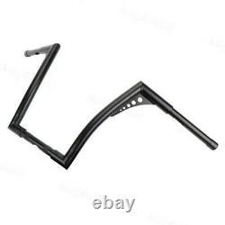 Black Handy 1''Fat 14Rise Ape Hangers Handlebar For Harley Softail Sportster XL