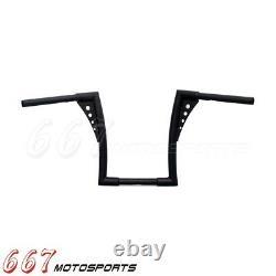 Black Motorcycle APE Hangers Bars Fat 1-1/4 12 Rise Handlebar For Harley XL