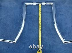 CHROME 18 DNA MONSTER FAT APE HANGER BARS Wide 1-1/2 HARLEY Softail Deluxe