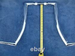 CHROME 18 DNA MONSTER FAT APE HANGER BARS Wide 1-1/2 HARLEY Touring Road King